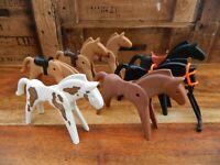 Playmobil Bundle of Vintage Horses - Black Brown White