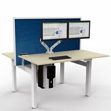 iMount E24qs Electric Height Adjustable Back-to-back Desk Frame Silver