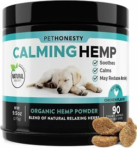 PetHonesty Hemp Calming Treats for Dogs - All-Natural Soothing Snacks with Hemp