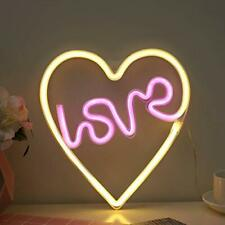 Neon Love in Heart Signs Led Neon Light up Sign for Girls and Mom Love in Heart