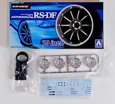 "Aoshima 1/24 Advan Racing RS-DF 19"" Wheel & Tire For Plastic Models 5328 (33)"