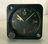 Waltham Watch 1944 WWII AN 5743 -1 Aircraft Clock Original For Parts Or Repair