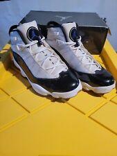 Air Jordan 6 Rings 2008 Sneakers Mens Sz 11 White Concord Black 322992 151