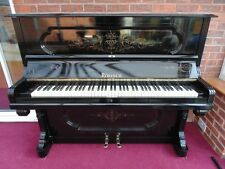 EARLY 1890'S BLACK RONISCH OVERSTRUNG UNDERDAMPED UPRIGHT PIANO