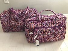 Vera Bradley Iconic Weekender And Large Duffel Travel Bag Dream Tapestry New