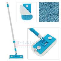 Wet Dry Microfibre Bathroom Kitchen Mop Flat Mop Cleaning Telescopic Hard Floor