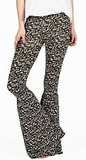 2015 NWT WOMENS VOLCOM HEAVY PETAL PANTS $45 S black lightweight flares pull on