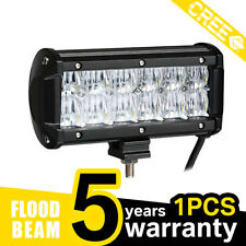 7inch 60W Barre LED Rampe Light bar phare de travail 12V 24V SUV ATV 4x4 Offroad