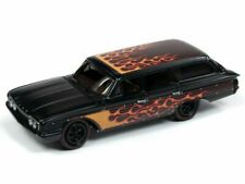 1960 Ford Country Squire Wagon - Orange Flames **RR** Johnny Lightning 1:64 NEU