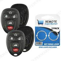 2 Replacement for 06-11 Buick Lucerne Cadillac DTS Remote Key Fob 5b Shell Case