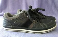 SKETCHERS Black Leather Sneakers Mens Size 7