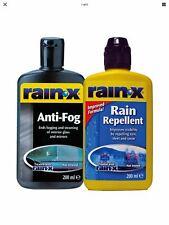 2x RainX Rain Repellant 200ml Rain X Windscreen Cleaner+Rain X Anti Fog 81199