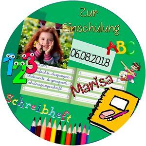 Tortenaufleger Schulanfang M6 mit Ihren Foto und Text