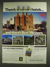 1983 Best Western Hotel Ad - Live Like Prince in Wales