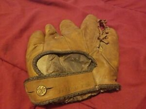 Vintage J. A. Dubow Sporting Goods Stanley Hack Baseball Glove - Chicago Cubs