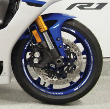 YZF-R1 2015 motorcycle wheel decals stickers rim stripes Laminated yzf r1 grey