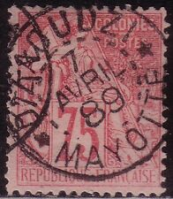 COLONIES GENERALES - N°58 - CACHET CENTRAL D'ZAOUDZI * MAYOTTE * - 7-4-1889 - RR