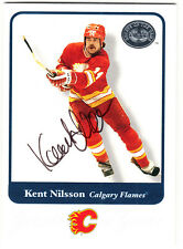 Kent Nilsson Calgary Flames Hall of Fame HOF SIGNED CARD AUTOGRAPHED