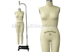Professional Pro Female Working dress form,Mannequin,Full Size 14