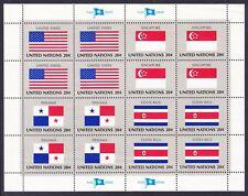 United Nations Ny 362-65 Mnh Og 1981 Pane of 16 (4 Blocks of 4) Very Fine