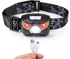 Torcia Testa, LED PROIETTORE RICARICABILE USB CREE FARO perfetto per l'esecuzione