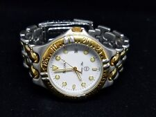 Bulova Men's Watch 98G46 Two Tone White Dial (Not Working - For Parts or Repair)