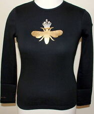 My Flat In London Black L/S Gold Queen Bee - Large - New