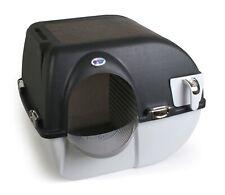 Omega Paw Elite Roll 'n Clean Self Cleaning Litter Box Midnight Black Chrome
