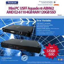USFF Faktor PC Desktop Rechner AMD E2-6110 1,5GHz 4GB 120GB SSD Windows 10 Pro
