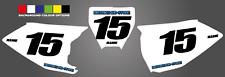 HUSQVARNA NUMBER BOARD BACKGROUNDS TC 125 2016 2017 2018 CUSTOM ADD NAME NUMBER