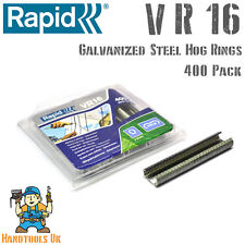 Rapid VR16 Galvanized Hog Rings for use with FP20 / FP216 Fence Pliers 400 Pack