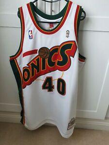 Seattle Supersonics NBA Authentic Shawn Kemp Jersey 48 MITCHELL AND NESS 95-96
