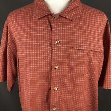 Columbia Sportswear Vertex Button Front Camp Shirt XL Hiking Fishing Plaid Check