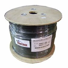 CAT6E Outdoor UV Shielded Direct Burial Cable 550MHz 1000FT Bare Copper, NOT CCA