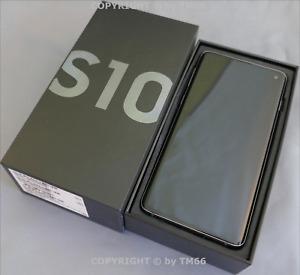 SAMSUNG GALAXY S10 DUOS 128GB G973 BLACK * wie NEU in OVP OHNE BRAND vom HÄNDLER