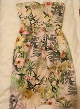 Gorgeous Guess Strapless Dress Summer Flowers Sweetheart Neckline XS UK 6 US 0