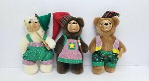 Limited Edition Robert Raikes Christmas Craftsmen Tinker Sawyer 1994 Bears EUC