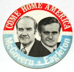 1972 GEORGE MCGOVERN THOMAS EAGLETON campaign pin pinback button presidential