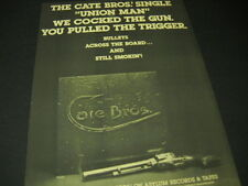 CATE BROTHERS we cocked the gun - you pulled the trigger 1976 PROMO POSTER AD