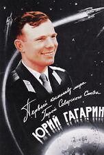 Postkarte: Der erste Kosmonaut der Welt, der Held der Sowjetunion Juri Gagarin