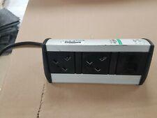 2 way desktop power distribution unit with 1 data socket