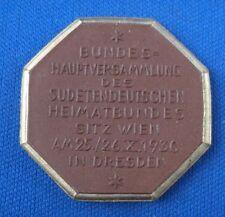 Meissen Münze Steinzeug Dresden Bundeshauptversammlung Sudetendeutschen 1930