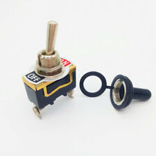 ON-OFF SPST Rocker Toggle Switch Miniature + Waterproof Cover 12V Power Switch