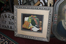 Superb Jewish Oil Painting On Canvas Signed Sascher-Books Writings Feather Pen