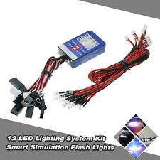 12 LED Lighting System Kit Smart Simulation Flash Lights for RC Car Tamiya B2L0