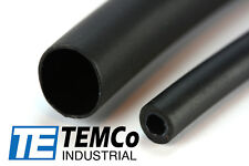 "3 Lot Temco 3/8"" Marine Heat Shrink Tube 3:1 Adhesive Glue Lined 4 ft Black"