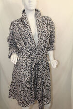 Victoria's Secret Women  Cozy  Thermal Robe Animal Print Sz XS  NWT