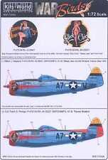 Kits World Decals 1/72 P-47D THUNDERBOLT Sleepy Jean the 3rd & Slick Chick