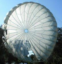 New Military Parachute Canopy Mc1-1D Lines Cut 35 Ft Diameter Soft Nylon, Shade