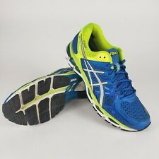ASICS Gel Kayano 21 Running Shoes Style Men's Size 9 T4H2N Blue Yellow Silver